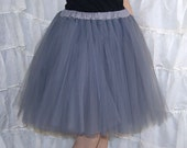 Silver Romance Knee Length TuTu skirt adult All Sizes MTCoffinz