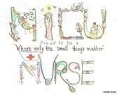 Honoring a NICU Neonatal Nurse Personalized Art 8x10