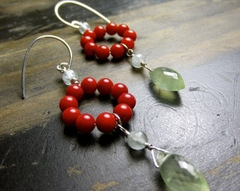 Coral Fiesta Earrings