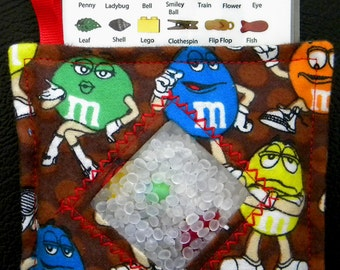 I Spy Bag - Mini with Sewn Word List and Detachable Picture List- M&Ms