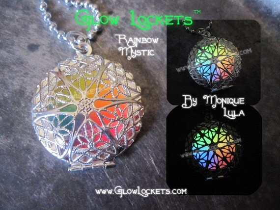 Rainbow Mystic Glow Locket