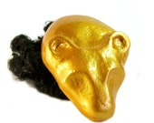 Golden Sekhmet Egyptian Amulet