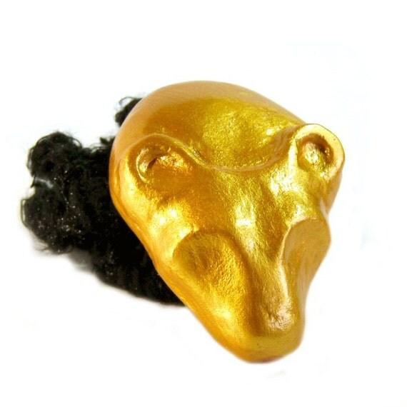 Golden Sekhmet Egyptian Amulet