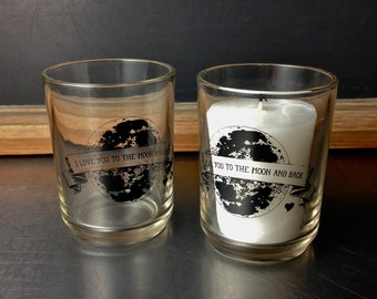 Love You To The Moon And Back Candle Holder