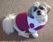CROCHET PATTERN Maddi's  Sailor Dog Sweater Jumper in 4 sizes PDF 247 Digital Download