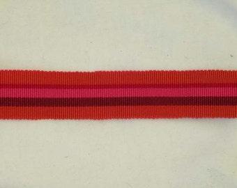 6 Yards Red Grosgrain Ribbon French France Stripe 7669