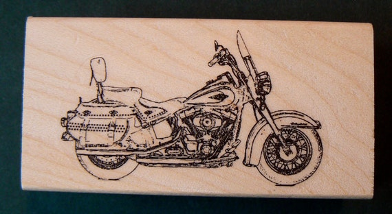 P20 Motorcycle rubber stamp