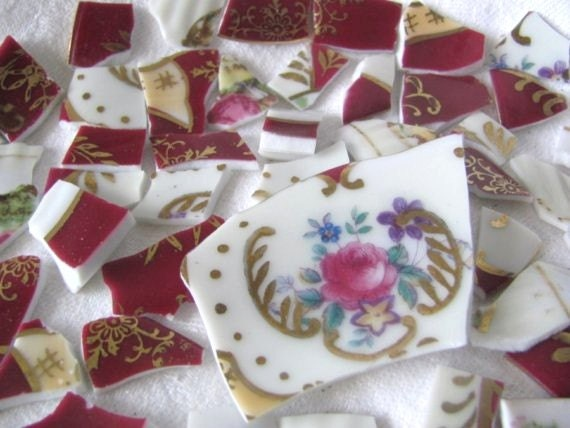 SALE Antique 105 Tiles Victorian Mosaic ..Was 18.50 Now 12.50