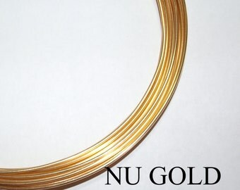 Remnant 18 ga.  2 ft.   Nu Gold Red Brass Wire Round dead soft