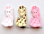 Felt Hair Clips - Giraffe Felt Barrette - Your Choice of ANY ONE Color - Baby Hair Clip to Adult Hair Clip