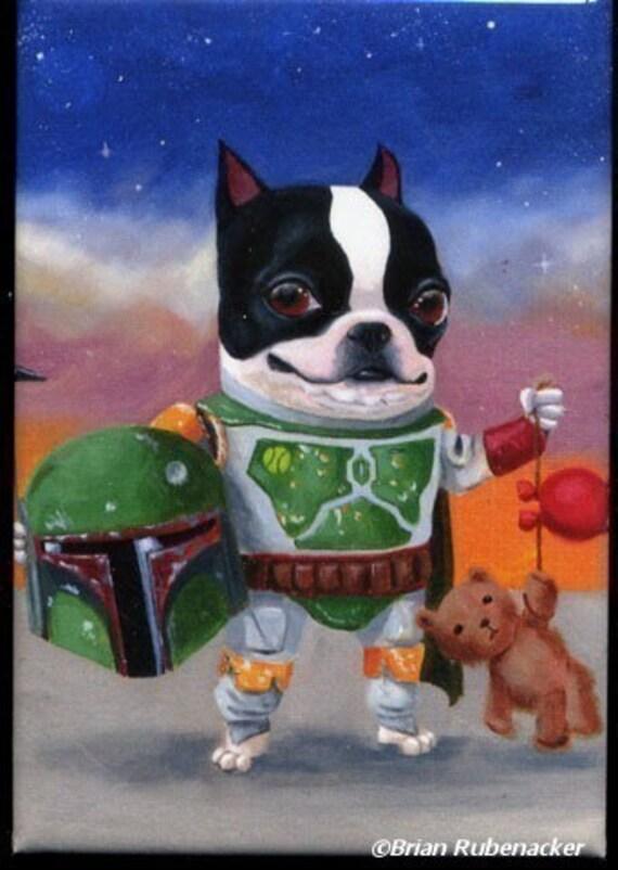 Boston Terrier Boba Terrier Magnet