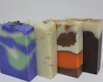 Any Four Soaps - Your Choice - Custom Soap Set, Hand Crafted Natural Soap