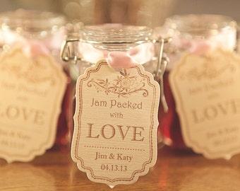Wedding Favor Tags, Pink Wedding Favors, Cream Wedding Favors, Jam Jar Labels, Wine Bottle Labels, Customised Favors, Wedding Place Cards