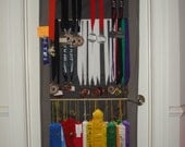 Athletic/Sports Awards Organizer/Display- ribbons, medals