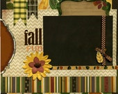 Fall Fun - 12x12 Premade Scrapbook Page - SusansScrapbookShack