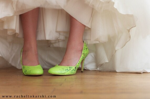 ... Items Similar To Wedding Shoes Lime Green Neon Purple .