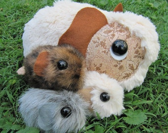 Guinea Pig Family PATTERN - brand new design from Emma's Bears - Mum and Baby Guinea Pigs