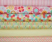 So Happy Together quilt or craft fabric bundle by Riley Blake Designs- Fat Quarter Bundle, 6 total