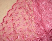 4 yds pink lace fabric