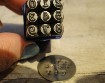 TYPEWRITER NUMBERS - steel number stamps - 1/8 inch (3mm) size - how to stamp tutorial