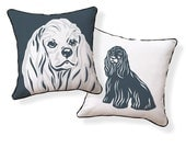 Adorable COCKER SPANIEL Pillow from the doggie style collection