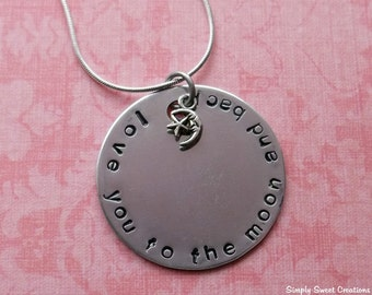 Handstamped Love You To The Moon And Back Necklace