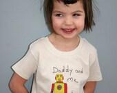Daddy and me Robot t-shirt - robots - kids t-shirt - father daughter t-shirt - cute illustration - children's t-shirt - kids fashion - love