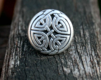 Tie Tack - Lapel Pin - Silver Celtic Eternal Knot
