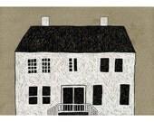 13 x 19 Print of Original Illustration - White House Two