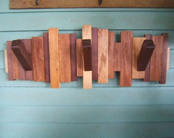 Scrap Wood Wall Coat Rack