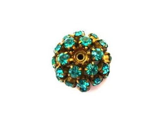 antique vintage swarovski bead flower shape metal by oritdotan