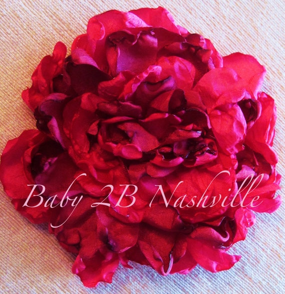 Handmade Silky Cabbage Rose with matching headband to match your tutu
