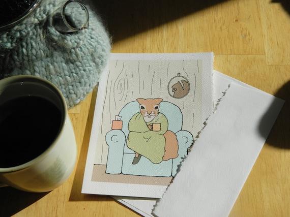 squirrel card: sick day
