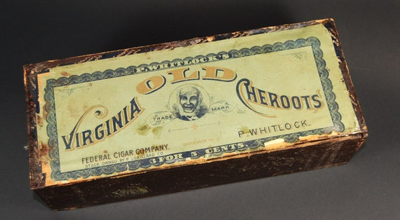 Old Vintage Cigar Box, 2GoodPoniesVintage on Etsy