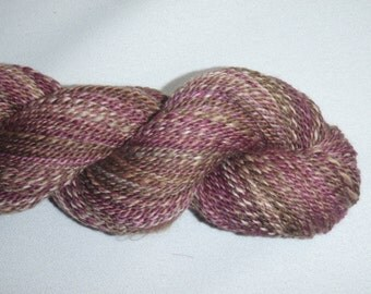 Handspun Yarn - Superfine Merino Wool, Cashmere, Mulberry Silk - 220 yds