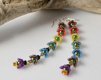 Flowers of Rainbow earrings