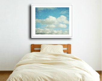 "Cloud Print Large Wall Art Fine Art Photograph Blue Nature Wall Art - 24x30 30x40 ""Cloud Nine"""