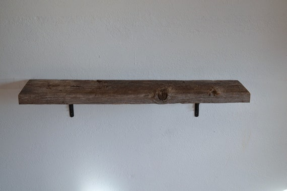 rustic reclaimed wood wall shelf 36 x 8 x 7 nice and by. Black Bedroom Furniture Sets. Home Design Ideas