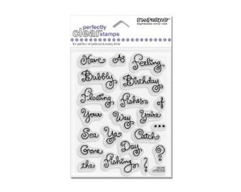Acrylic Stamp Stampendous SSC242 Sushi's Favorite Words - Kitsnbitscraps