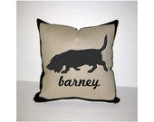 BASSET HOUND Personalized Pillow - One of a Kind, Handmade, Custom - 3 Designs Available