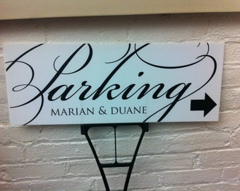 Wedding Sign, Parking Sign Personalized Wedding Parking Sign Custom Wedding Sign Parking Arrow Wedding Arrow Outdoor Directional Sign Outdoo