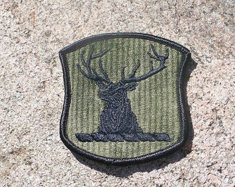 Vintage US Army Idaho National Guard Shoulder Patch,Deer,Stag,Antlers,Military
