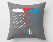 Decorative pillows for couch - rain throw decorative pillow - modern cushion - grey pillow case-  Spring pillow - Summer pillow - Art pillow