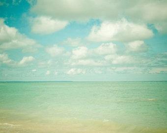 Summer Beach . travel . resort spa decor . beach house art . ocean sea shore nautical print . nature photography . blue aqua turquoise art