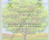 Customized Reiki Certificate Templates - Tree 2