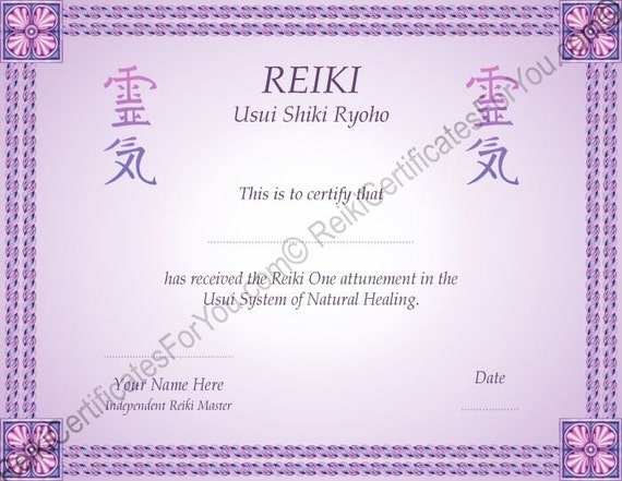 Border 8 Reiki Certificate Template by ReikiCertificates ...