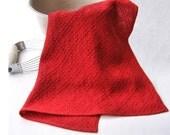 Handwoven Towel Red Double Trellis