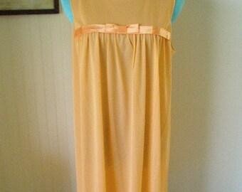 SALE-SALE Vintage Vanity Fair 1970s Awesome Orange Nightgown--NEW--Never Worn