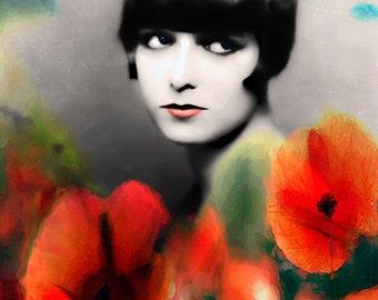Art, Photography, Portrait, Woman Portrait,  Fine Art Print, Giclee Archival Print, Photomontage, Collage, Painted Photographs,
