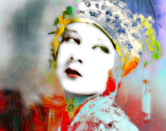 Art, Photography, Portrait, Woman Portrait,  Fine Art Print, Giclee Archival Print, Photomontage, Collage, Painted Photographs,